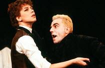DRACULA written & directed by Chris Bond after Bram Stoker design: Billy Meall lighting: Jimmy Simmonds <br> Victoria Hardcastle (Dr Tanya Van Helsing), Daniel Day Lewis (Dracula) Half Moon Theatre, L...