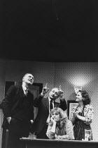 ABSURD PERSON SINGULAR written & directed by Alan Ayckbourn design: Michael Holt lighting: Francis Stevenson <br> l-r: Donald Douglas (Ronald Brewster-Wright), Richard Kane (Sidney Hopcroft), Jennifer...
