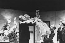 ABSURD PERSON SINGULAR written & directed by Alan Ayckbourn design: Michael Holt lighting: Francis Stevenson <br> l-r: Lavinia Bertram (Jane Hopcroft), Donald Douglas (Ronald Brewster-Wright), Jennife...