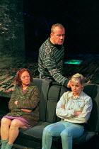 RITA, SUE AND BOB TOO by Andrea Dunbar design: Es Devlin lighting: Johanna Town sound: Paul Arditi director: Max Stafford-Clark <br> l-r: Jane Wood (Mum), Ian Redford (Dad), Emma Rydal (Sue) an Out of...