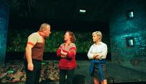 RITA, SUE AND BOB TOO by Andrea Dunbar design: Es Devlin lighting: Johanna Town sound: Paul Arditi director: Max Stafford-Clark <br> l-r: Ian Redford (Dad), Jane Wood (Mum), Emma Rydal (Sue) an Out of...