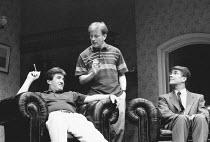 ABSENT FRIENDS by Alan Ayckbourn director: Peter James <br> l-r: Michael Melia (Paul), John Salthouse (John), Gary Bond (Colin) Lyric Hammersmith (LTH), London W6 30/07/1992 (c) Donald Cooper/Photosta...