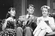 ABSENT FRIENDS by Alan Ayckbourn director: Peter James <br> l-r: Cherith Mellor (Marge), Gary Bond (Colin), Susie Blake (Diana) Lyric Hammersmith, London W6 30/07/1992 (c) Donald Cooper/Photostage pho...