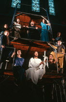 MORTE D'ARTHUR by Sir Thomas Malory dramatised and directed by David Freeman composer: Nigel Osborne design: David Roger lighting: Michael Calf <br> part ii - top, l-r: Jacques Bourgaux (Launcelot),...