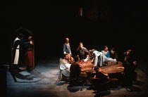 MORTE D'ARTHUR by Sir Thomas Malory dramatised and directed by David Freeman composer: Nigel Osborne design: David Roger lighting: Michael Calf <br> the Knights at the Round Table St Paul's Church,...
