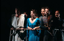 MORTE D'ARTHUR by Sir Thomas Malory dramatised and directed by David Freeman composer: Nigel Osborne design: David Roger lighting: Michael Calf <br> l-r: Jacques Bourgaux (Launcelot), Katharine Rogers...