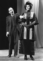 THE LOVE OF A GOOD MAN by Howard Barker design: Stephanie Howard lighting: David Colmer director: Nicolas Kent <br> Ian McDiarmid (Hacker), Diane Fletcher (Mrs Toynbee) an Oxford Playhouse Company pr...