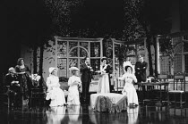 PYGMALION by George Bernard Shaw design: William Dudley lighting: Mark Henderson director: Howard Davies <br> l-r: Robin Bailey (Colonel Pickering), Gillian Barge (Mrs Higgins), Hermione Norris (Clara...