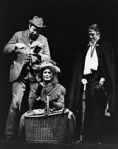 PYGMALION by George Bernard Shaw set design: Carl Toms costumes: Bob Ringwood lighting: John B Read director: Denise Coffey <br> Higgins & Pickering discover Eliza in Covent Garden - l-r: David Henry...