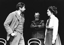 PYGMALION by George Bernard Shaw set design: Carl Toms costumes: Bob Ringwood lighting: John B Read director: Denise Coffey <br> l-r: David Henry (Henry Higgins), Donald Eccles (G.B.S), Lesley-Anne D...