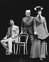 PYGMALION by George Bernard Shaw set design: Carl Toms costumes: Christine Rowland lighting: John B Read director: Denise Coffey <br> l-r: Richard Easton (Henry Higgins), David Dodimead (G.B.S), Lorr...