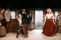 THE PLAYBOY OF THE WESTERN WORLD by J.M. Synge design: Di Seymour lighting: Andy Phillips & Jeffrey Beecroft director: Lindsay Anderson <br> front left: Frank Grimes (Christopher Mahon), Robert Keegan...