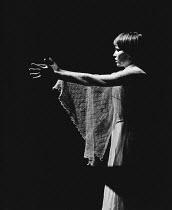 MARY ROSE by J M Barrie design: Johanna Bryant lighting: John B Read director: Braham Murray <br> Mia Farrow (Mary Rose) 69 Theatre Company / Shaw Theatre, London NW1 13/07/1972 (c) Donald Cooper/Phot...