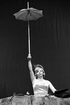 HAPPY DAYS by Samuel Beckett set design: John Macfarlane costumes: Clare Mitchell lighting: David Watson director: Frank Dunlop <br> Denise Coffey (Winnie) The Young Vic, London SE1 01/06/1971 (c) Don...