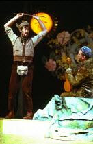MASQUERADE by Kit Williams adapted & directed by Frank Dunlop music & lyrics: Rod Argent set design: Alan Pickford costumes: Annena Stubbs lighting: John B. Read choreography: Arlene Phillips <br> l-r...