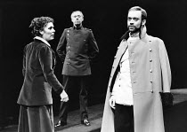 RICHARD II by Shakespeare design: Grant Hicks lighting: John B Read director: Robin Lefevre <br> left: Lynda Bellingham (Queen) right: Nickolas Grace (Richard II) The Young Vic, London SE1 25/02/1981...