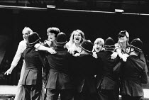 THE ENEMIES WITHIN scripted by Ron Rose design: Shelagh Keegan lighting: Paul Denby director: David Thacker <br> all women's picket line The Young Vic, London SE1 23/07/1987 (c) Donald Cooper/Photos...