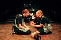 THE MAIDS by Jean Genet in a new translation by Martin Crimp design: Vicki Mortimer lighting: Nigel Edwards movement: Struan Leslie director: Katie Mitchell <br> l-r: Aisling O'Sullivan (Solange), An...