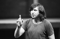 Michael Bogdanov (director) rehearsing the Action Man Trilogy <br> HAMLET, RICHARD III and THE TEMPEST by Shakespeare The Young Vic, London SE1 1978 (c) Donald Cooper/Photostage photos@photostage.co...