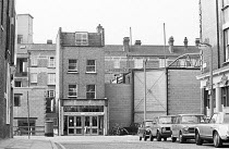 exterior of the Young Vic theatre in The Cut, London SE1 1978 showing the new extension on the right <br> (c) Donald Cooper/Photostage photos@photostage.co.uk ref/BW-N-282-27