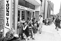 School children arriving for a performance of FAYRE PLAY at the Young Vic Theatre in 1978 <br> part of The Young Vic Education Service (YVES) programme  (c) Donald Cooper/Photostage photos@photostag...