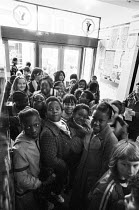 School children waiting in the foyer for a performance of FAYRE PLAY at the Young Vic Theatre in 1978 <br> part of The Young Vic Education Service (YVES) programme (c) Donald Cooper/Photostage photos...