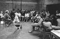 school workshop in 1978 <br> part of The Young Vic Education Service (YVES) programme (c) Donald Cooper/Photostage photos@photostage.co.uk ref/BW-N-231-B-8