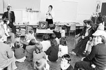 school workshop in 1978 with Young Vic company member Philip Bowen (left) <br> part of The Young Vic Education Service (YVES) programme (c) Donald Cooper/Photostage photos@photostage.co.uk ref/BW-N-22...