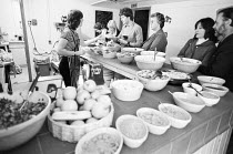 lunch break during a school workshop in 1978 <br> part of The Young Vic Education Service (YVES) programme (c) Donald Cooper/Photostage photos@photostage.co.uk ref/BW-N-231-A-18