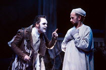 A CHRISTMAS CAROL by Charles Dickens adapted by David Holman design: Bill Mitchell lighting: Paul Denby director: Martin Jameson <br> l-r: Andy Hockley (the ghost of Jacob Marley), Jon Strickland (Ebe...