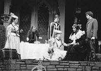 CHARLEY'S AUNT by Brandon Thomas design: Bob Ringwood & Robert Dein director: Denise Coffey <br> l-r: Amanda Boxer (Kitty Verdun), Hugh Hastings (Brassett), Simon Chandler (Charles Wykeham), Natasha P...