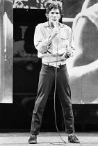 Richard Gere (Danny Zuko) in GREASE at the New London Theatre, London WC2 26/06/1973 book, music & lyrics: Jim Jacobs & Warren Casey set design: Douglas W. Schmidt costumes: Carrie F. Robbins lighting...