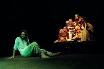 left: Steve Balsamo (Jesus Christ) right centre: Nick Holder (King Herod) in JESUS CHRIST SUPERSTAR at the Lyceum Theatre, London WC2 19/11/1996 music: Andrew Lloyd Webber lyrics: Tim Rice design: Joh...