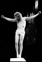 Paul Nicholas (Jesus) in JESUS CHRIST SUPERSTAR at the Palace Theatre, London W1 09/08/1972  music: Andrew Lloyd Webber lyrics: Tim Rice set design: Brian Thomson costumes: Gabriella Falk lighting: Ju...