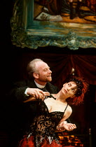 Ian McDiarmid (Dr Schon), Joanne Whalley Kilmer (Lulu) in LULU by Frank Wedekind at the Almeida Theatre, London N1 12/03/1991  translated by Hugh Rorrison design: Maria Bjornson director: Ian McDi...