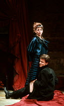 Joanne Whalley Kilmer (Lulu), Michael Grandage (Alwa Schon) in LULU by Frank Wedekind at the Almeida Theatre, London N1 12/03/1991  translated by Hugh Rorrison design: Maria Bjornson director: Ian...