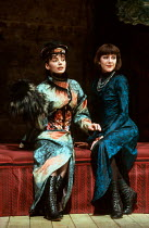 l-r: Joanne Whalley Kilmer (Lulu), Belinda Lang (Countess Geschwitz) in LULU by Frank Wedekind at the Almeida Theatre, London N1 12/03/1991  translated by Hugh Rorrison design: Maria Bjornson dire...