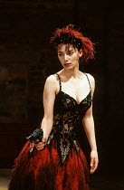 Joanne Whalley Kilmer (Lulu) in LULU by Frank Wedekind at the Almeida Theatre, London N1 12/03/1991  translated by Hugh Rorrison design: Maria Bjornson director: Ian McDiarmid