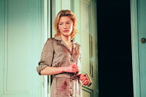 Cate Blanchett (Susan Traherne) in PLENTY by David Hare at the Albery Theatre, London WC2 27/04/1999  an AlmeidaTheatre Company production design: Maria Bjornson lighting: Mark Henderson director:...