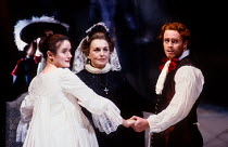 ALL'S WELL THAT ENDS WELL by Shakespeare design: John Gunter lighting: Rick Fisher director: Peter Hall <br> l-r: Sophie Thompson (Helena), Barbara Jefford (Countess of Rousillion), Toby Stephens...