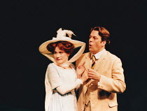 THE IMPORTANCE OF BEING EARNEST by Oscar Wilde design: Mark Bailey lighting & direction: Terry Hands <br> Abigail Cruttenden (Gwendolen), Roger Allam (Jack) ** reference scan of colour print:...