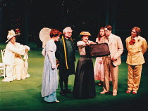 THE IMPORTANCE OF BEING EARNEST by Oscar Wilde design: Mark Bailey lighting & direction: Terry Hands <br> l-r: Barbara Leigh-Hunt (Lady Bracknell), Abigail Cruttenden (Gwendolen), Patrick Godfrey...