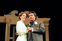 AN IDEAL HUSBAND by Oscar Wilde design: Carl Toms lighting: Joe Atkins director: Peter Hall <br> Victoria Hasted (Mabel Chiltern), Martin Shaw (Lord Goring)  a Peter Hall Company production /...