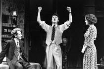 AWAKE AND SING! by Clifford Odets design: Martin Johns lighting: Leonard Tucker director: Lou Stein <br> l-r: Michael J. Jackson (Moe Axelrod), Michael Grandage (Ralph Berger), Elaine R. Smith (He...
