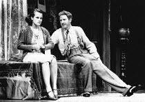 AWAKE AND SING! by Clifford Odets design: Martin Johns lighting: Leonard Tucker director: Lou Stein <br> Elaine R. Smith (Hennie Berger), Michael J. Jackson (Moe Axelrod)  Palace Theatre, Watf...
