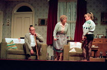 ENJOY by Alan Bennett design: Lez Brotherston lighting: Mark Ridler director: Jeremy Sams <br> l-r: James Bolam (Wilfred Craven / Dad), Anne Reid (Connie Craven / Mam), Gilly Tompkins (Linda Crave...