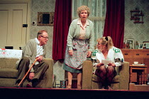 ENJOY by Alan Bennett design: Lez Brotherston lighting: Mark Ridler director: Jeremy Sams <br>&#xA l-r: James Bolam (Wilfred Craven / Dad), Anne Reid (Connie Craven / Mam), Gilly Tompkins (Linda Crave...