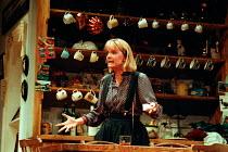 GETTING ON by Alan Bennett design: Douglas Heap lighting: Leonard Tucker director: Roger Smith <br> Serena Evans (Polly Oliver) Palace Theatre, Watford, England 10/10/1990  (c) Donald Coop...