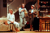 GETTING ON by Alan Bennett design: Douglas Heap lighting: Leonard Tucker director: Roger Smith <br> l-r: Serena Evans (Polly Oliver), Clive Francis (George Oliver), Ruth Kettlewell (Mrs Brodribb)&...