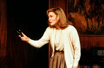 Faye Dunaway (Circe) in CIRCE & BRAVO by Donald Freed at the Hampstead Theatre, London NW3 05/06/1986 <br> set design: Eileen Diss costumes: Jane Robinson lighting: Mick Hughes fights: Jonathan Ho...
